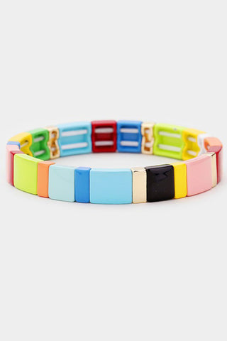 Longboat Key Stretch Block Tile Bracelet