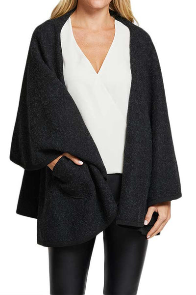 Look By M Charcoal Shawl Wrap