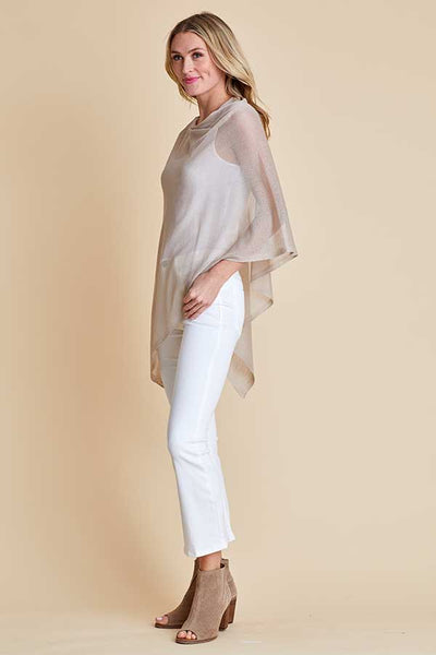 Look By M Shimmer Poncho Wrap
