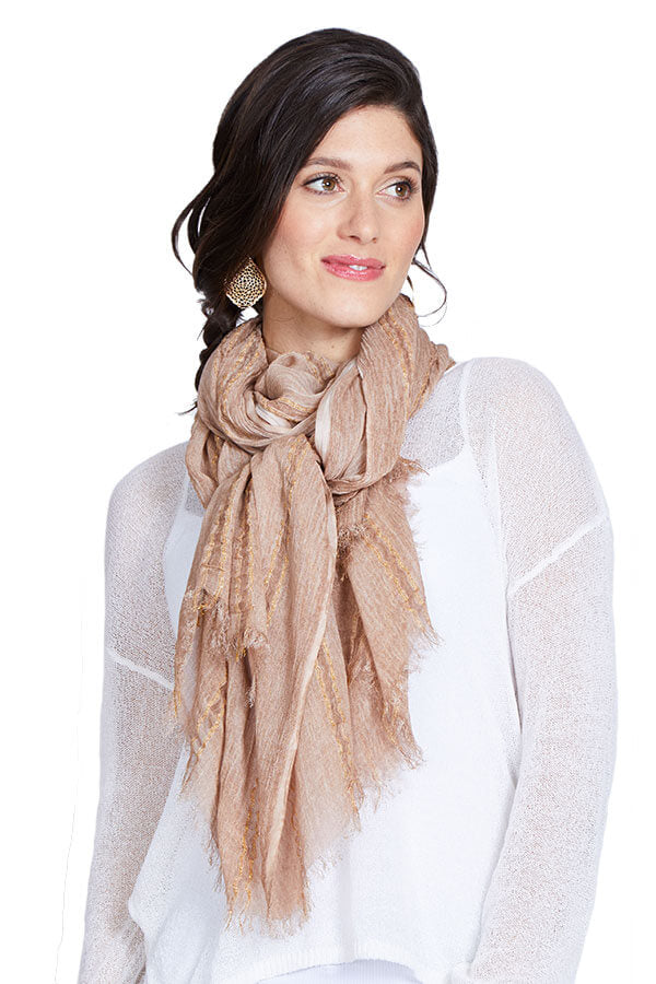 Look by M Lurex Blush Scarf