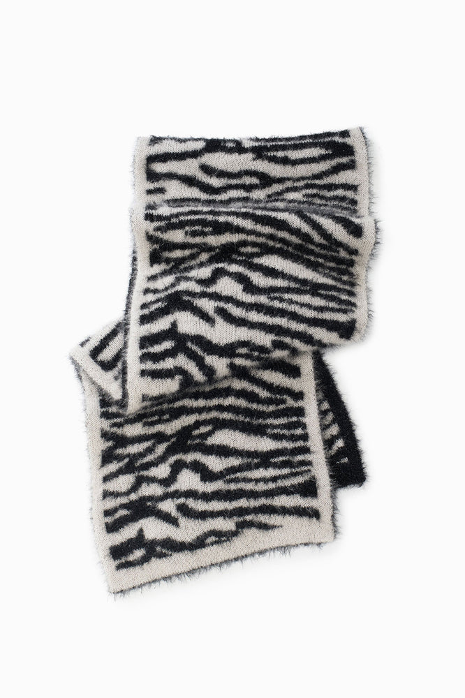 Look by M Zebra Scarf