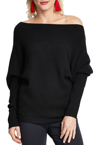Love Stitch Slouchy Waffle Textured Sweater
