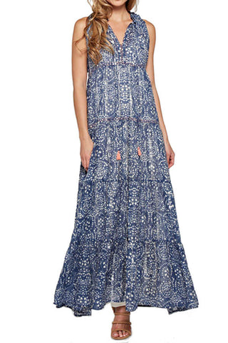 Love Stitch Printed Maxi Dress