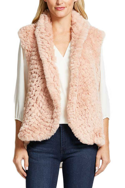 Love Token Faux Fur Vest (also available in black and navy)