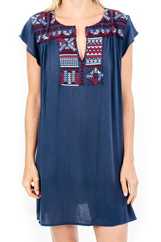 Love Stitch Embroidered Coverup/Dress