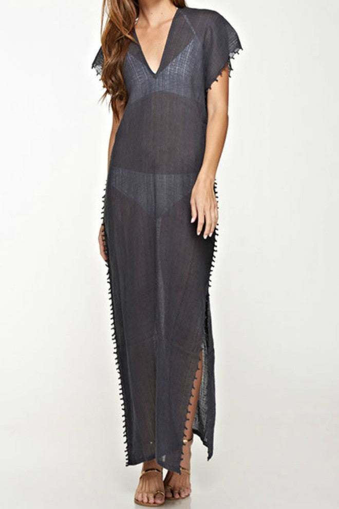 Love Stitch Long Sheer Coverup