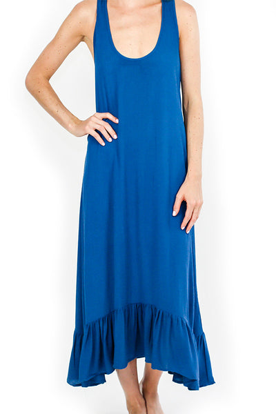 Love Stitch Ruffle Hem Midi Dress/Coverup