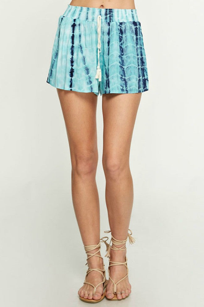 Love Stitch Tie Dye Printed Shorts