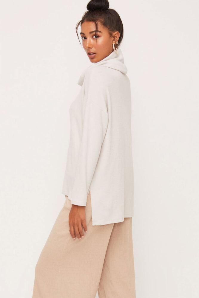 Lush Long Sleeve Cowlneck Top