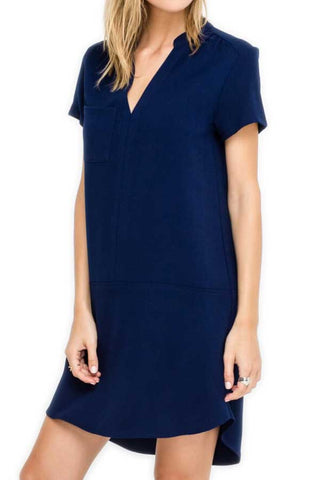 Lush Short Sleeve Dress (Available in Navy & Black)