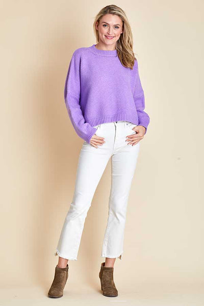 Main Strip Ultraviolet Cropped Sweater