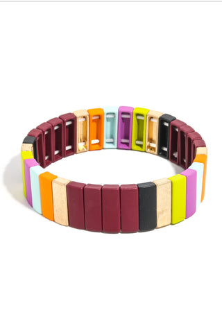 Nashville Nights Stretch Block Tile Bracelet