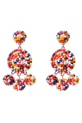 Nelly Multi Colored Beaded Earrings