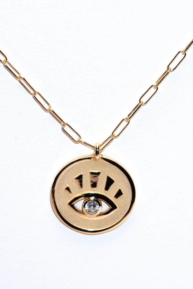Nikki E Large Evil Eye Pendant Necklace
