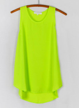 Olivaceous Sleeveless Top