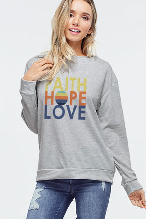 Phil Love Faith Hope Love Graphic Top