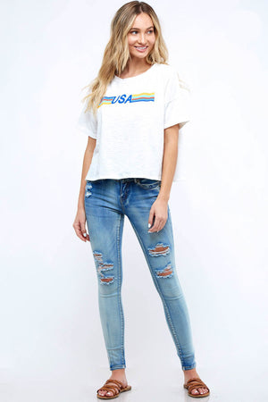 Peach Love California USA Tee