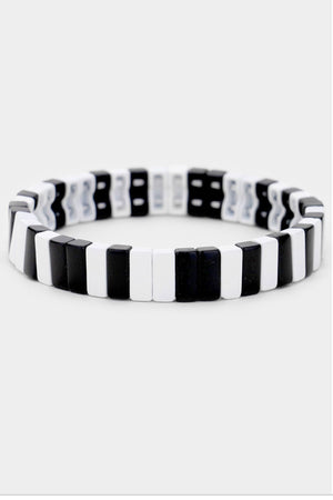 Load image into Gallery viewer, Piano Stretch Block Tile Bracelet
