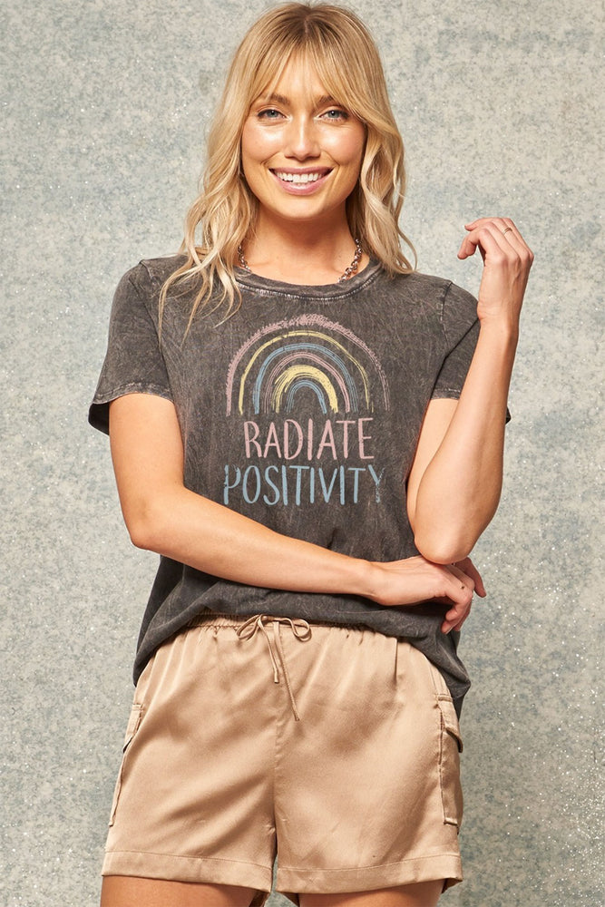 Load image into Gallery viewer, Promesa Radiate Positivity Graphic Tee