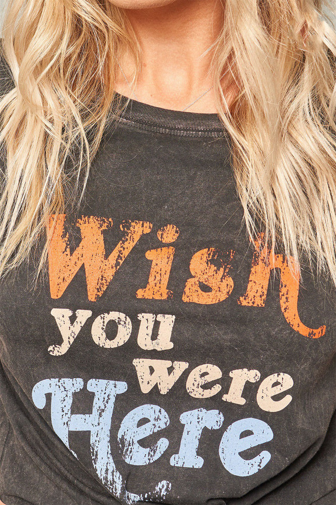 Promesa Wish You Were Here Graphic Tee