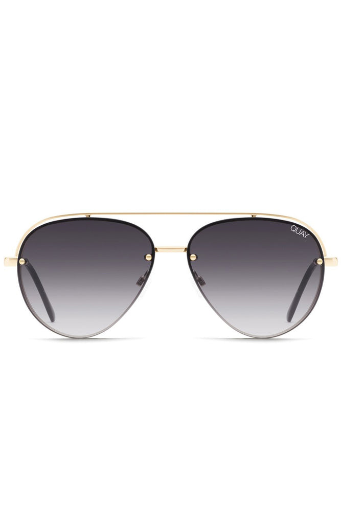 Load image into Gallery viewer, Quay Australia Long Story Oversized Aviator Sunglasses