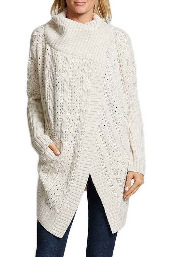 RD Style New Cable Oatmeal Cardigan