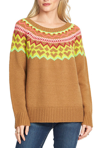 RD Style Crewneck Fairisle Sweater