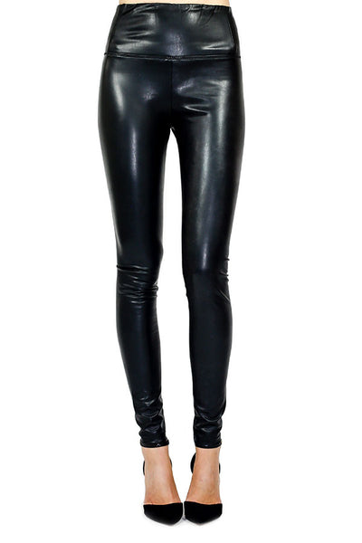 RD Style Faux-Leather Leggings