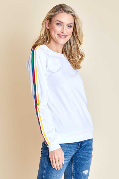 RD Style Long Sleeve Rainbow Sleeve Tee