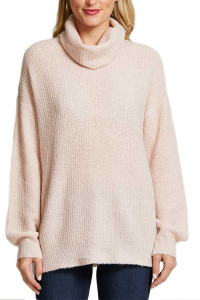 RD Style Oversized Turtleneck Pink Cloud Sweater