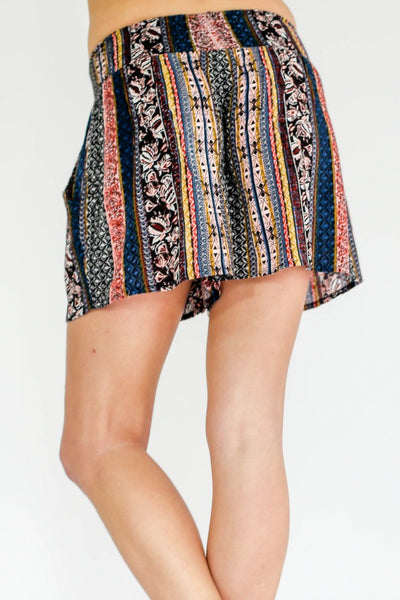 RD Style Smocked Waist Printed Shorts