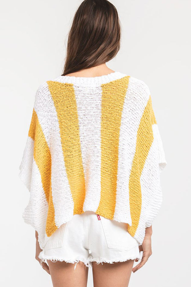Rag Poets Striped Lightweight Sweater