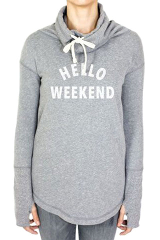 "Retro Brand ""Hello Weekend"" Sweatshirt"