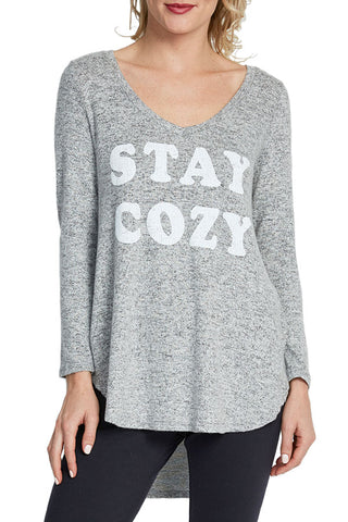 "Retro Brand ""Stay Cozy"" Tunic"