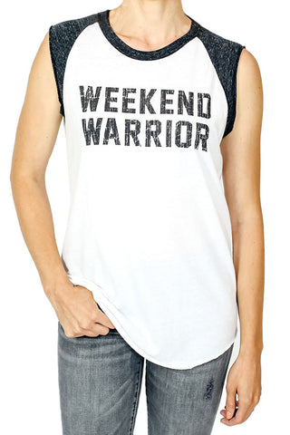 "Retro Brand ""Weekend Warrior"" Capsleeve Tee"