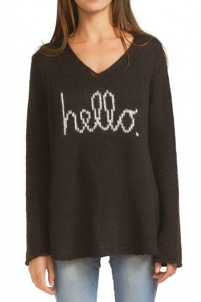 Wooden Ships Hello V-neck Sweater