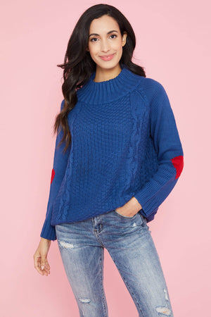 Trend Notes Heart Sleeve Sweater