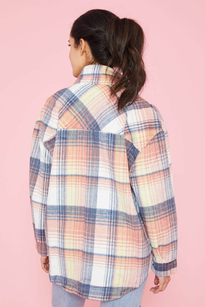 Load image into Gallery viewer, Urban Daizy Plaid Shacket