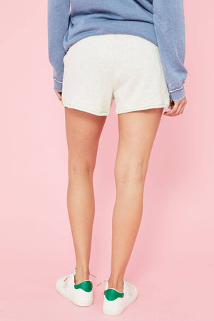 Hem and Thread Printed French Terry Shorts
