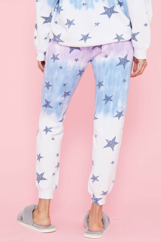 Load image into Gallery viewer, Vintage Havana Star Print Dip Dye Joggers