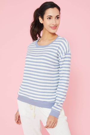 Load image into Gallery viewer, Ocean Drive Hacci Striped Sweatshirt