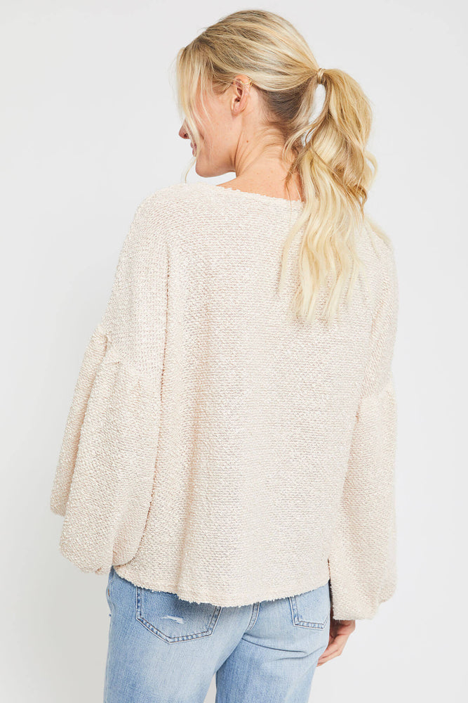 A. Calin Textured Sweater Top