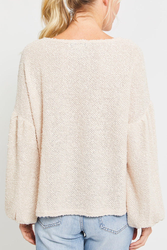 Load image into Gallery viewer, A. Calin Textured Sweater Top