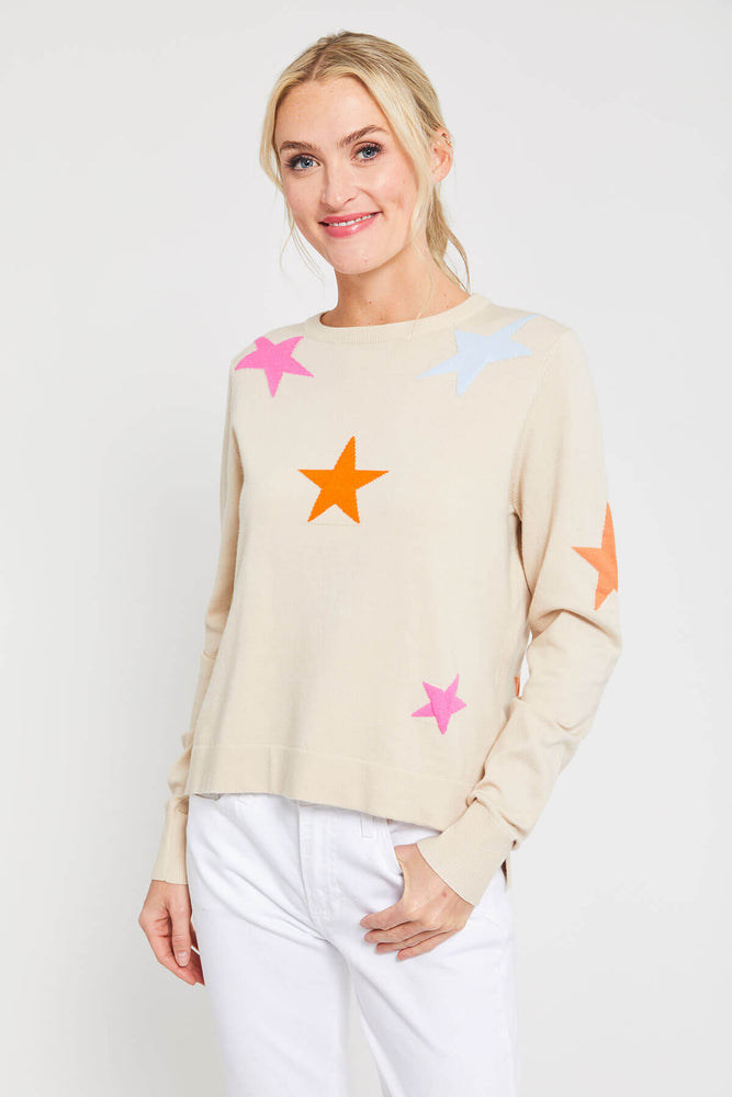 THML Multi Color Star Sweater