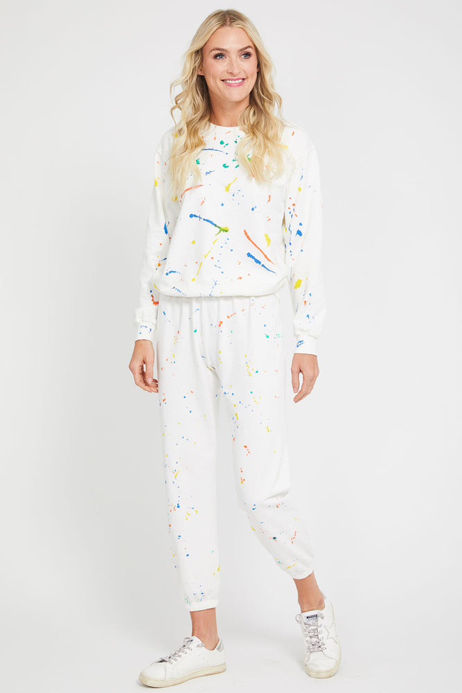 Load image into Gallery viewer, Suburban Riot Splatter Paint Willow Sweatshirt