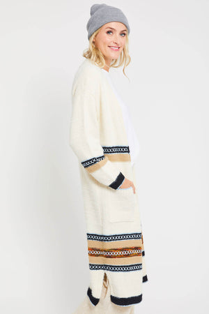 THML Embroidered Sweater Coat