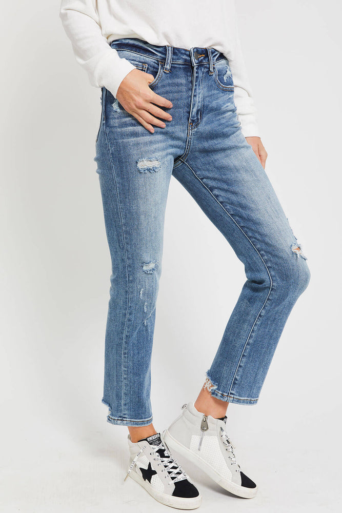 Load image into Gallery viewer, Risen Vintage Wash Straight Leg Jeans