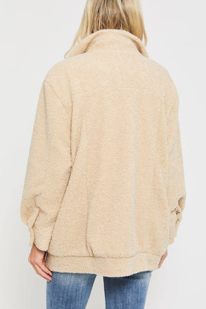 Hayden Fleece Button Front Jacket