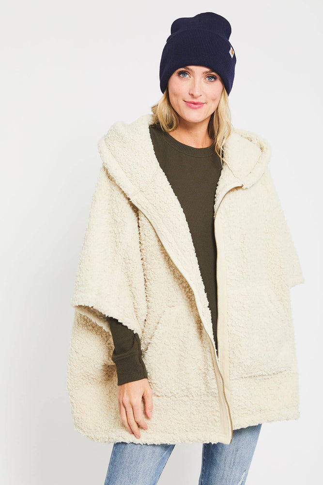 Easel Fleece Poncho