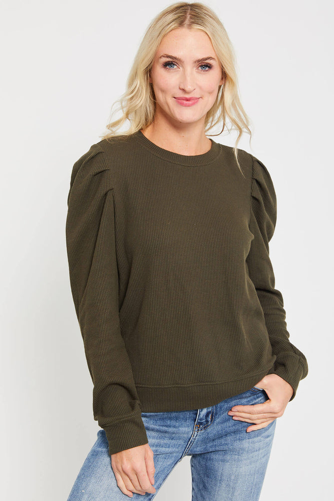 Load image into Gallery viewer, RD Style Puff Sleeve Knit Top